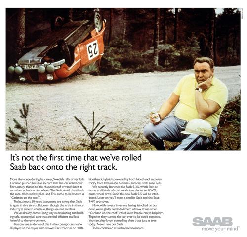Saab roll over ad