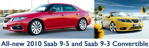 2010 Saab 9-5 and 9-3 Convertible