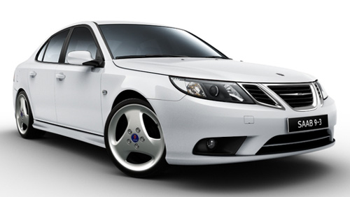2011 Saab 9-3 with new wheels