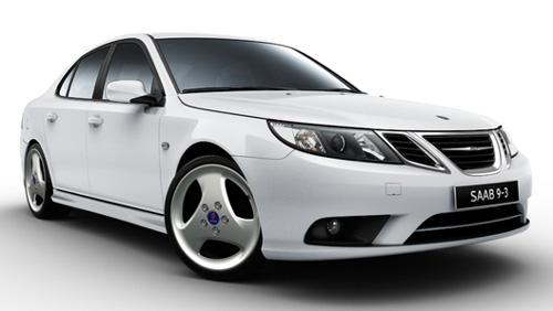 2011 Saab 9-3 with new wheels