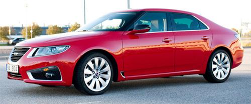 Red 2010 Saab 9-5 8