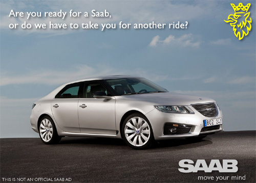 Unofficial Ad - idea for 2010 Saab 9-5