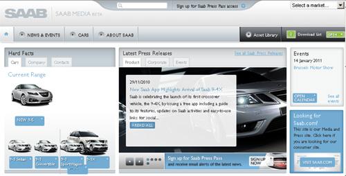 Saab Media Webpage Beta