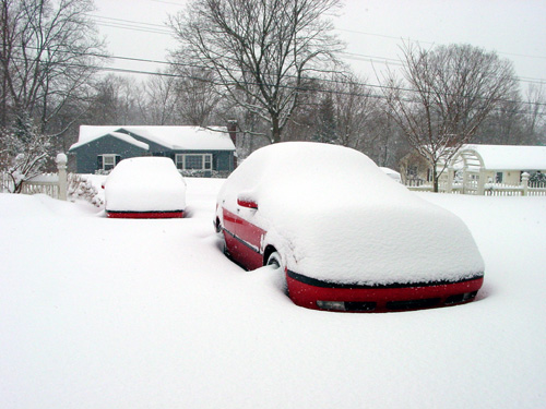 Saabs in snow 1-12-2011