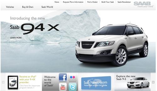 SAAB USA Website Updated