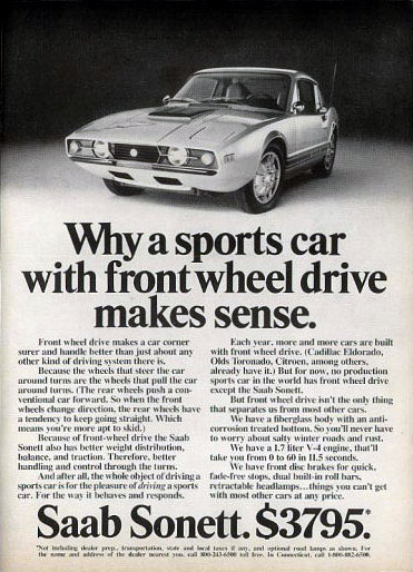 1972 Saab Sonett Sports Car Ad