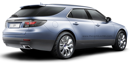 Saab 9-5X rendering rear