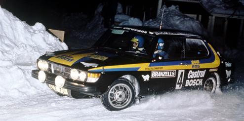 Saab 99 in snow