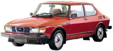 Saab 99 Turbo 2 door red