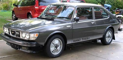 Grey Saab 99 Turbo