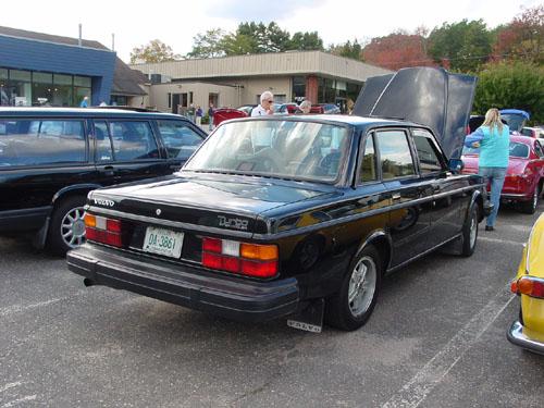 Classic Volvo 244 sedan from rear