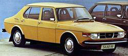 1976 Saab 99 in yellow