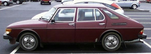 Saab 99 5 door cardinal red
