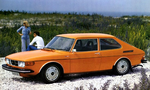 Saab 99 combi in orange