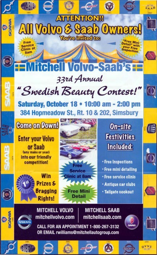 Mitchel Sweidsh Beauty Contest 2014 poster